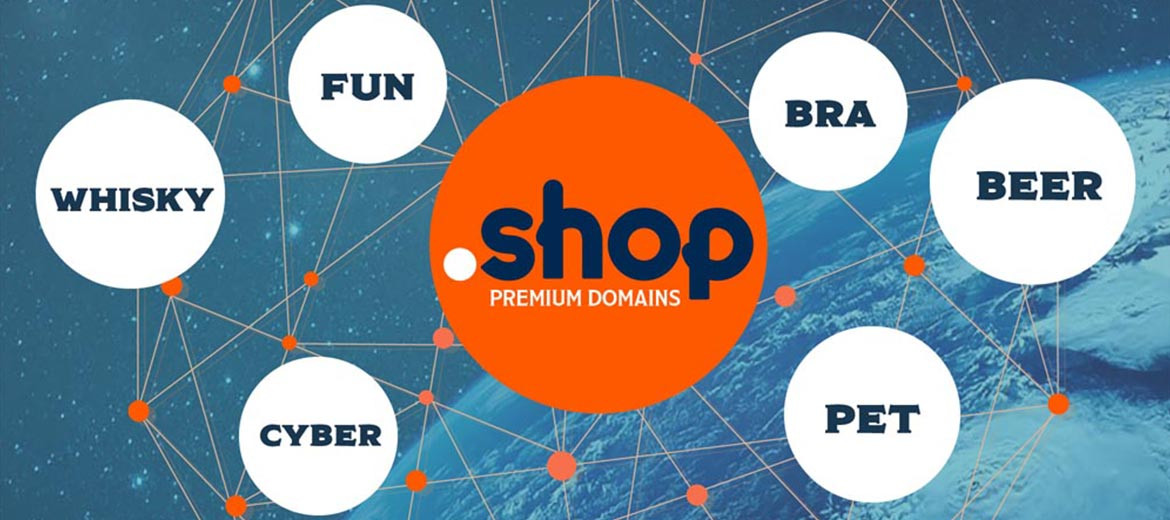 eCommerce positioning starting with domain .shop